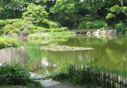 大阪市内にある庭園に