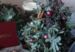 生花のグリーンで作るパリスタイルのクリスマスツリーの作り方